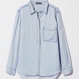 Aritzia faux denim sweater